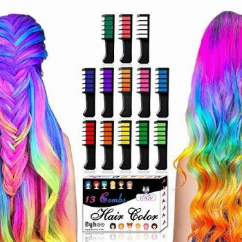 13 Colors Hair Chalk for Girls Gifts, Kids Temporary Bright