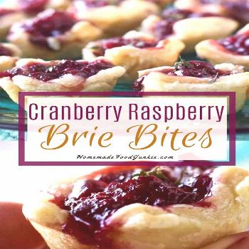 50 These cranberry raspberry brie bites are  These cranberry raspberry brie bites are perfect for a