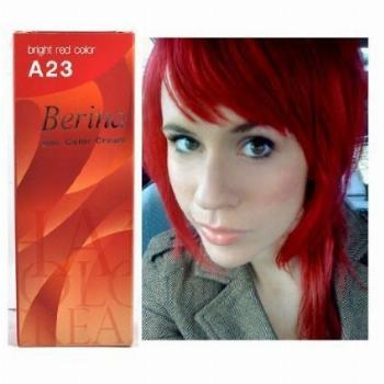 Bright Red Hair Dye Color Cream Permanent Goth Punk Crazy