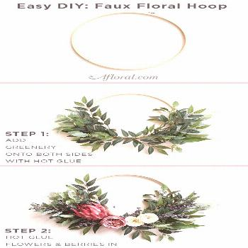 Easily DIY your very own faux floral hoop for alternative bridesmaids bouquets, or even to use as w