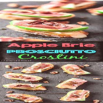 Easy & Quick Apple Brie Prosciutto Crostini!! Perfect holiday appetizer in no time.