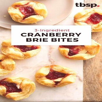 Flaky puff pastry, creamy brie and tart cranberries—that's all you need to pull together these