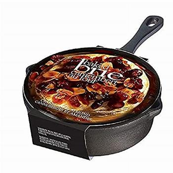 Gourmet Baked Brie Cheese Cast Iron Skillet with Cranberry