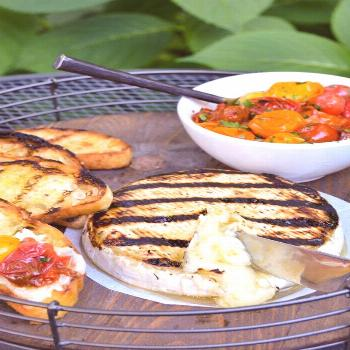 Grilled Brie with Tomatoes   Blue Jean Chef - Meredith Laurence Grilled Brie with Roasted Tomatoes