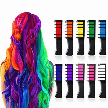 Hair Chalk Comb Temporary Bright Hair Color Dye for Girls