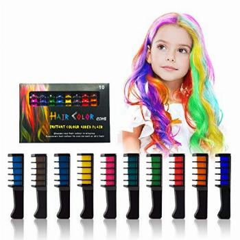 Hair Chalk Comb-Temporary Bright Hair Color Dye for Girls
