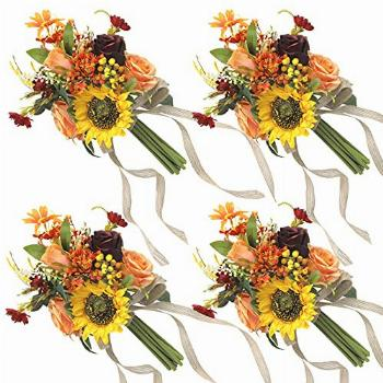 HiiARug 7quot Artificial Flowers Wedding Bouquet for