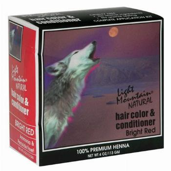 Light Mountain Natural Hair Color & Conditioner, Bright Red,