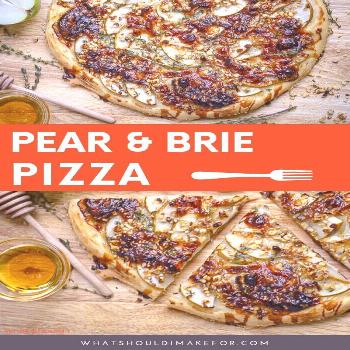 Pear and Brie Pizza Looking for an easy, healthy recipe for homemade fruit pizza? Say hello to pear