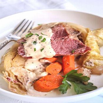 The best corned beef recipe made in your slow cooker! Corned beef and cabbage is an easy crockpot r