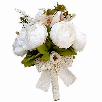 Wedding Bouquet for Bride Vintage Artificial Peony Flower