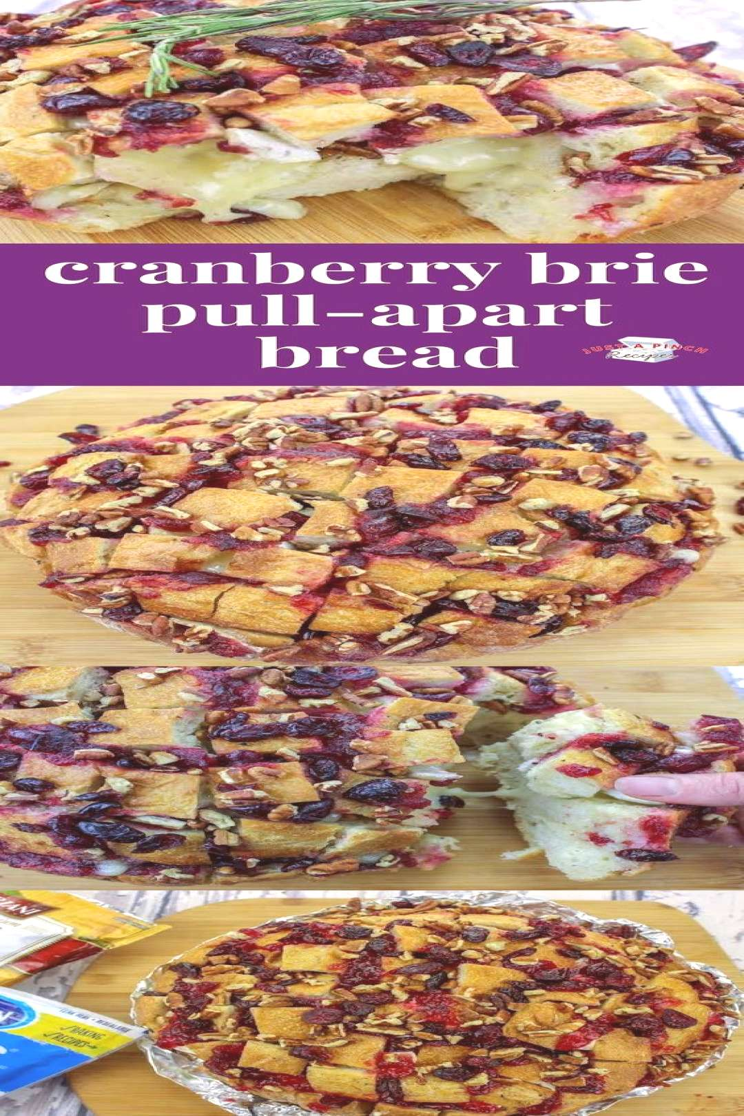 44 This cranberry brie pull-apart bread is click for more ... This cranberry brie pull-apart bread