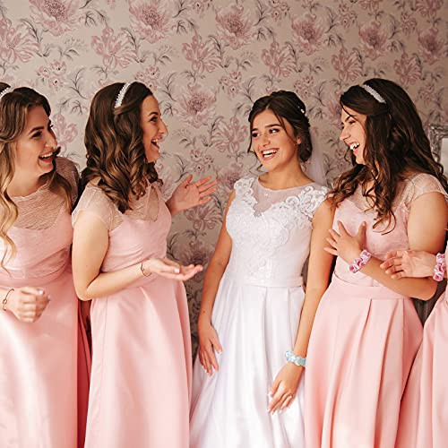 8 Sets Bridesmaid Proposal Accessories, Includes Satin Hair