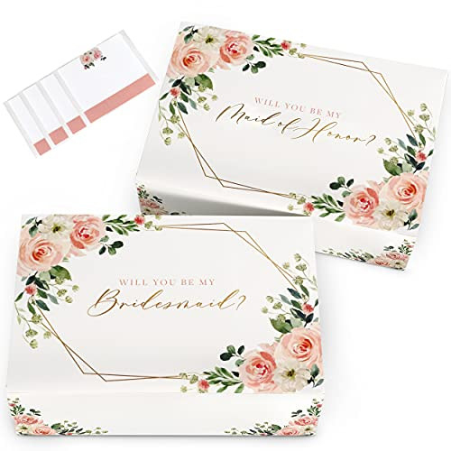 Bridesmaid Proposal Boxes with Stickers 4pcs | 1 Maid of