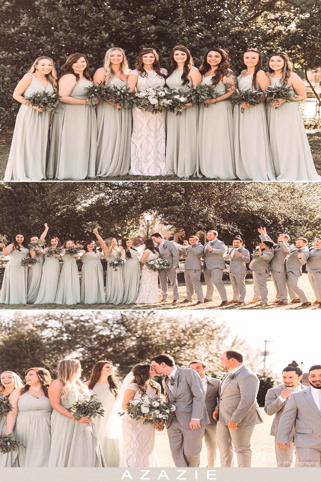 Butter Cookies Azazie dusty sage mismatched bridesmaid dresses. Dress your bridesmaids in these lon