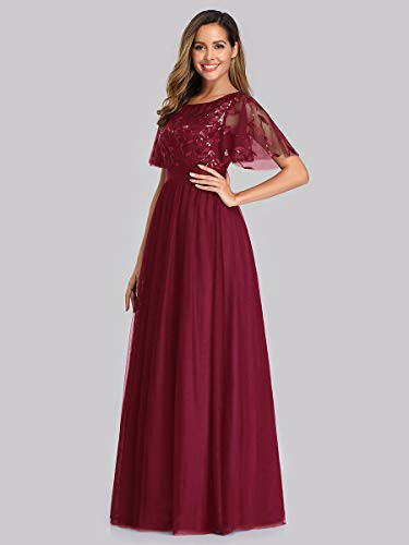 Ever-Pretty Womens A-Line Elegant Flare Sleeve Prom Gown