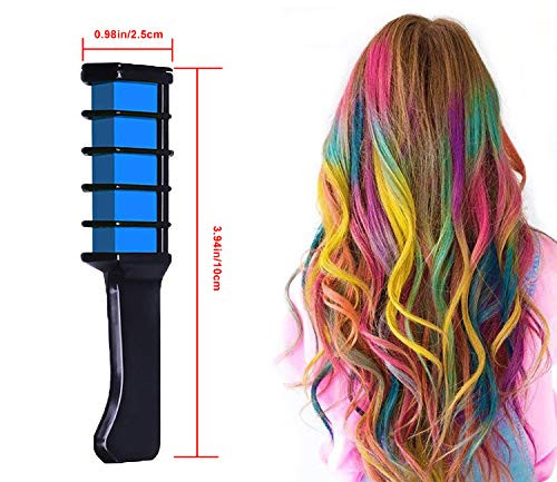 Hair Chalk Comb Temporary Bright Washable Hair Color Dye for
