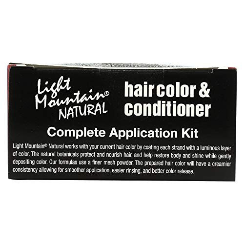 Light Mountain Natural Hair Color amp Conditioner, Bright Red,