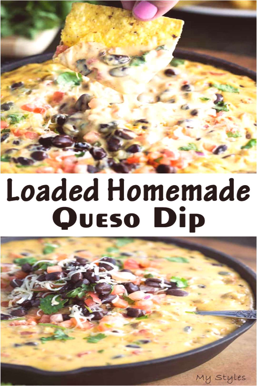 Loaded Homemade Queso Dip