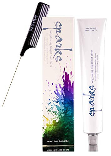Sparks PERMANENT Long-Lasting BRIGHT Hair Color Cream Dye