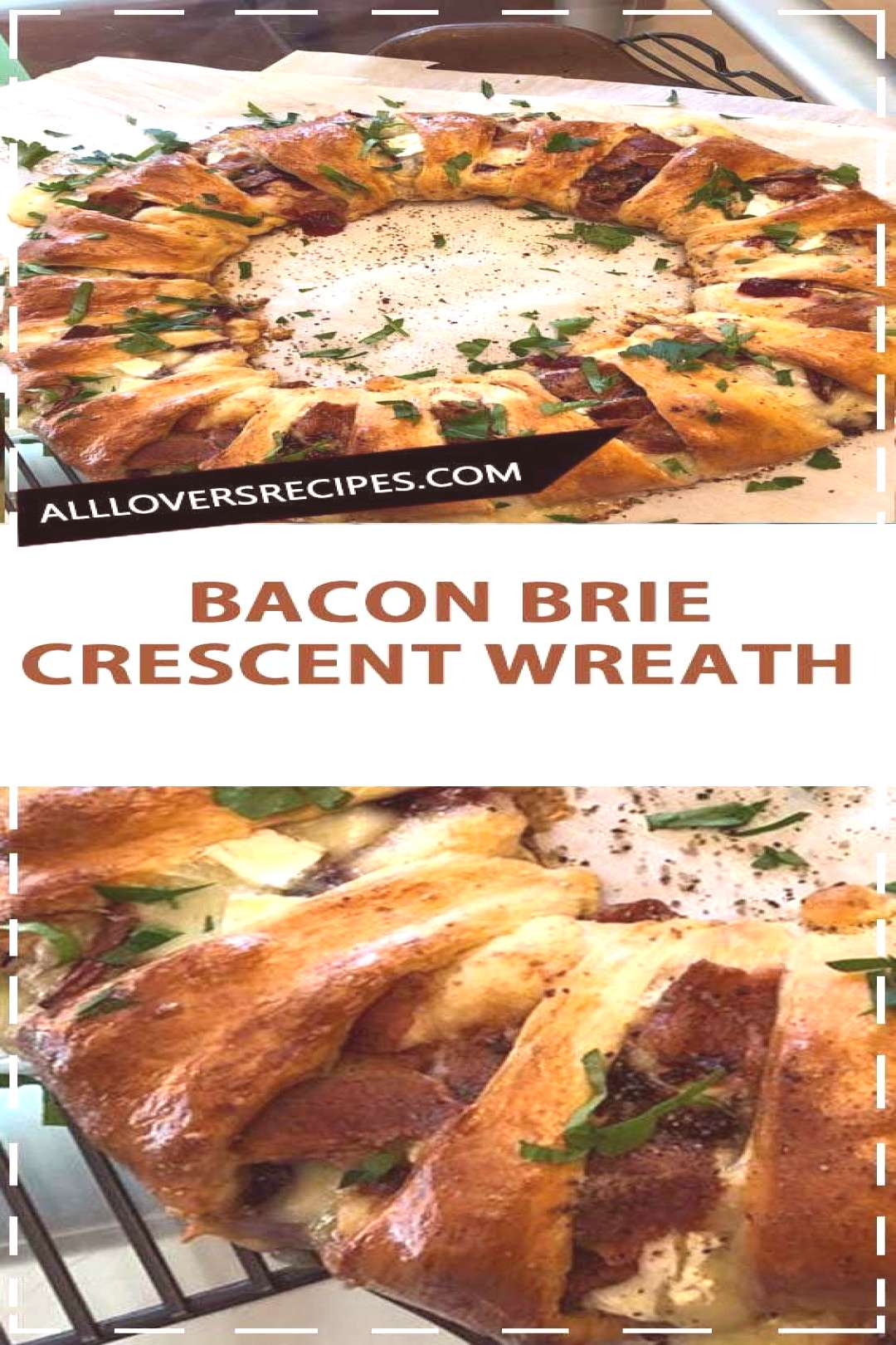 This bacon brie crescent wreath will be the star of your holiday party.