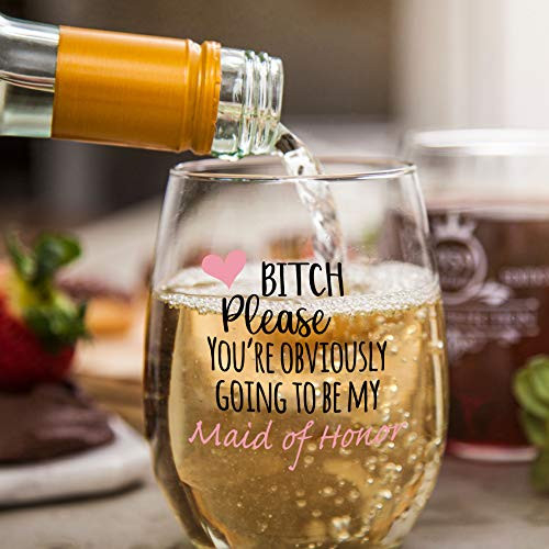 Youre Obviously Going To Be My Maid Of Honor Funny Stemless